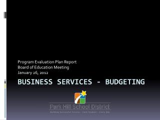 Business Services - Budgeting