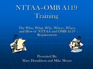 NTTAA�OMB A119 Training