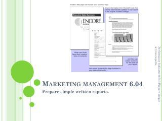 Marketing management 6.04