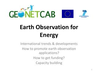 Earth Observation for  Energy