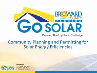 Community Planning and Permitting for Solar Energy Efficiencies