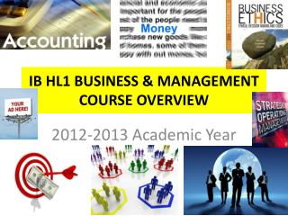 IB HL1 BUSINESS & MANAGEMENT COURSE OVERVIEW