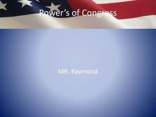 Power's of Congress