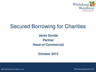 Secured Borrowing for Charities
