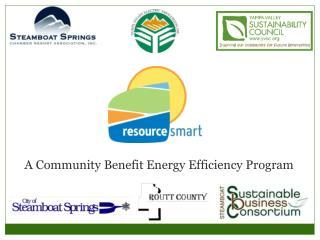 A Community Benefit Energy Efficiency Program