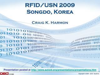 RFID/USN 2009 Songdo, Korea