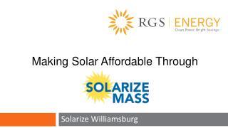 Solarize Williamsburg