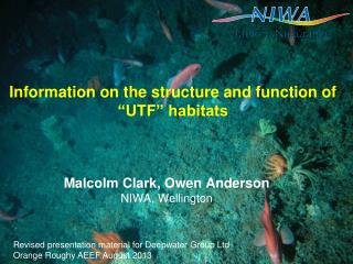 "Information on the structure and function of ""UTF"" habitats"