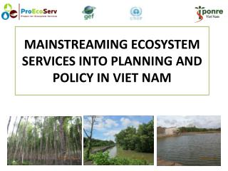 MAINSTREAMING ECOSYSTEM SERVICES INTO PLANNING AND POLICY IN VIET NAM