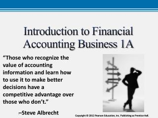 Introduction to Financial Accounting Business 1A