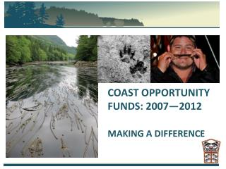 COAST OPPORTUNITY FUNDS: 2007—2012 MAKING A DIFFERENCE
