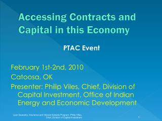 Accessing Contracts and Capital in this Economy
