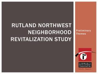 Rutland Northwest Neighborhood revitalization study
