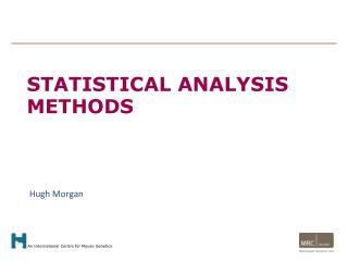 Statistical analysis methods