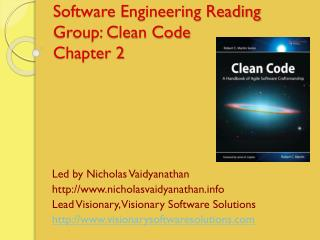 Software Engineering Reading Group: Clean Code Chapter  2