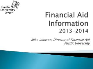 Financial Aid Information 2013-2014