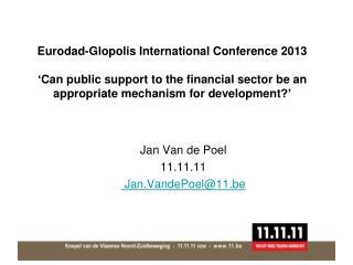 Jan Van de Poel 11.11.11 Jan.VandePoel @11.be
