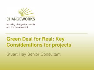 Green Deal for Real: Key Considerations for projects