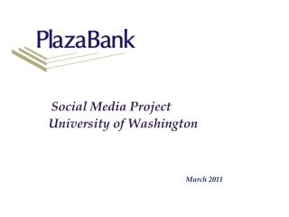 Social Media Project University of Washington