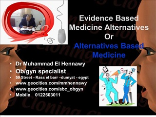 evidence based medicine alternatives  or  alternatives based medicine