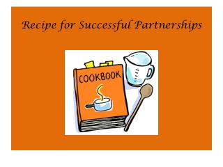 Recipe for Successful Partnerships