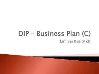 DIP – Business Plan (C)