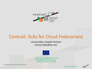 Contrail: SLAs for Cloud Federations