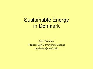 Sustainable Energy in  Denmark