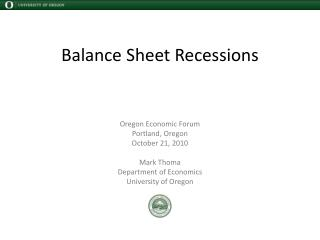 Balance Sheet Recessions