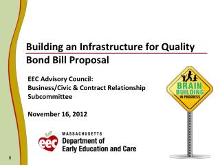 Building an Infrastructure for Quality Bond Bill Proposal