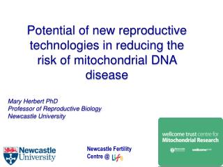 Potential of new reproductive technologies in reducing the risk of mitochondrial DNA disease
