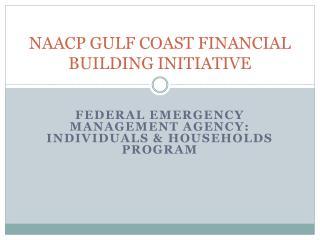NAACP GULF COAST FINANCIAL BUILDING INITIATIVE