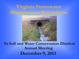 Virginia  Stormwater  Management Regulations
