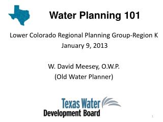 Water Planning 101