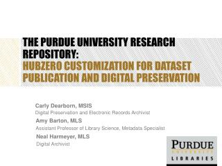 The Purdue University Research Repository:
