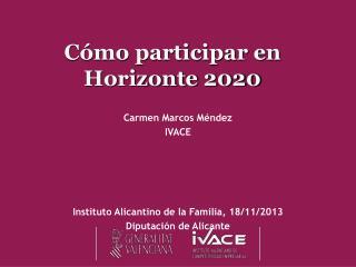 Cómo participar en Horizonte 2020