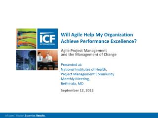Will Agile Help My Organization Achieve Performance Excellence?