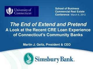 School of Business Commercial Real Estate Conference   March 6, 2012
