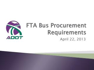 FTA Bus Procurement Requirements