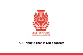 AIA Triangle Thanks Our Sponsors