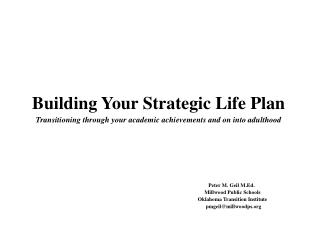 Building Your Strategic Life Plan