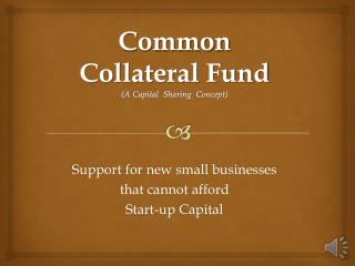 Common  Collateral  Fund (A  Capital   Sharing  Concept)