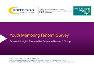 Youth Mentoring Reform Survey