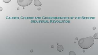 Causes, Course and Consequences of the Second Industrial Revolution