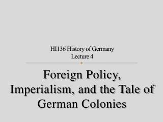 HI136 History of Germany Lecture 4