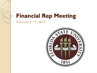 Financial Rep Meeting