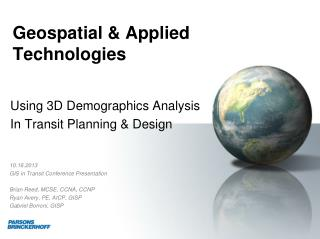 Geospatial & Applied  Technologies