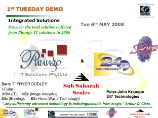 1 st  TUESDAY DEMO