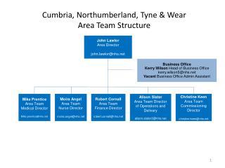 Cumbria, Northumberland, Tyne & Wear Area Team Structure