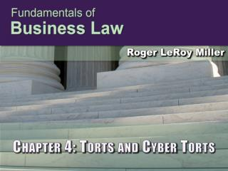Chapter 4: Torts and Cyber Torts